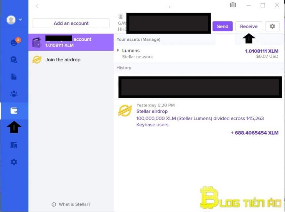 Obtenga la dirección XLM en Keybase