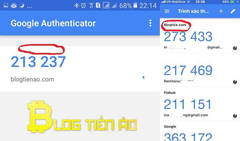 Khôi phục Google Authenticator trên sàn giao dịch