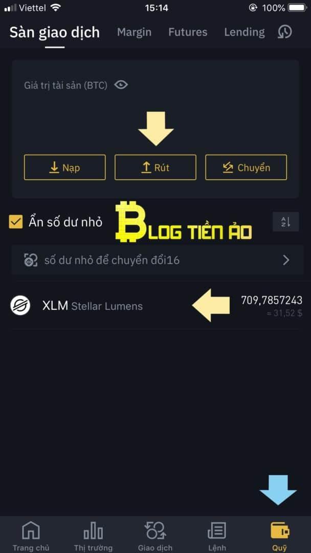 Prelevare monete sull'applicazione mobile