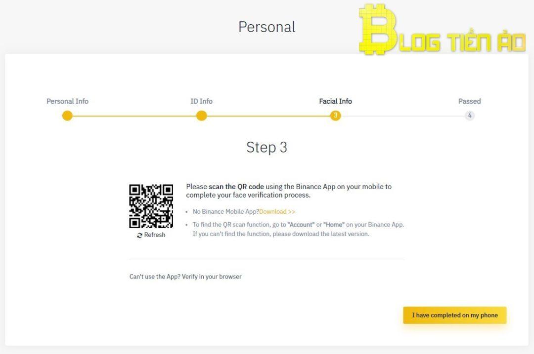 Face verification on Binance