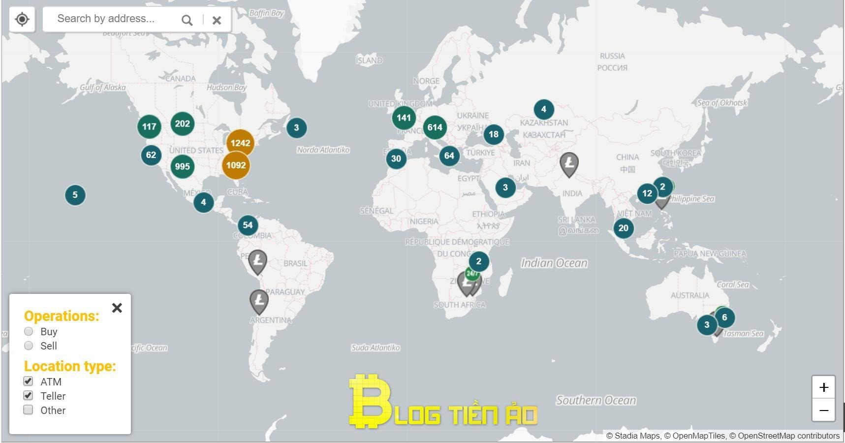 Mapa ATM LTC