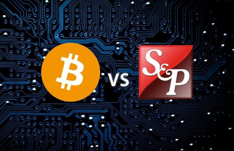 So sánh Bitcoin và S & P 500,