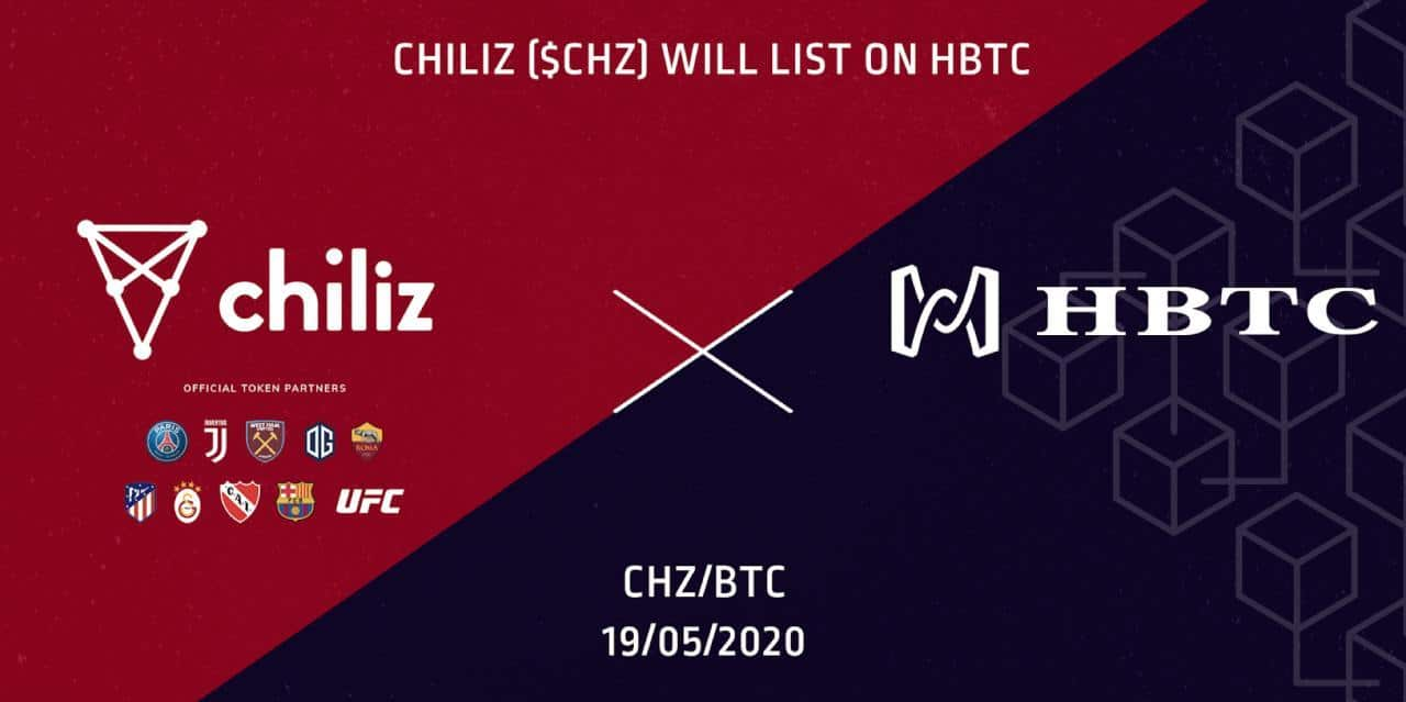 CHZ/BTC được niêm yết trên HBTC.com