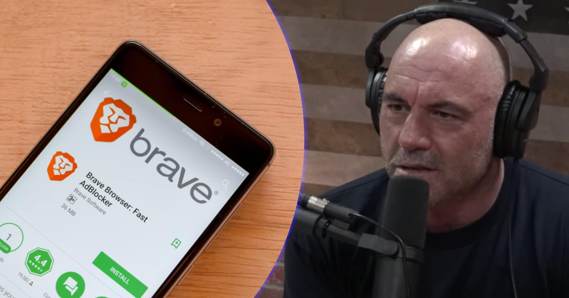 Podcaster nổi tiếng thế giới Joe Rogan tiết lộ ông đang sử dụng trình duyệt web dựa trên tiền điện tử