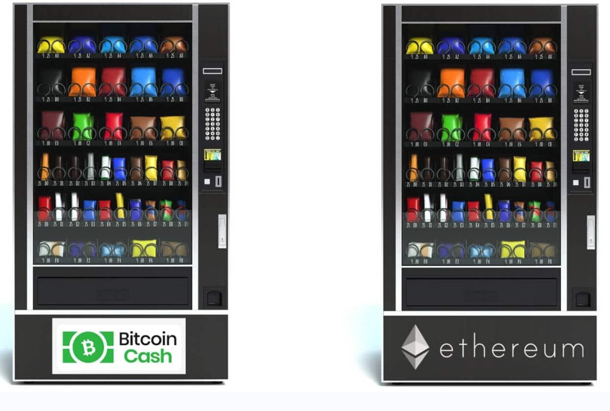 Một số máy bán hàng tự động ở Hồng Kông hỗ trợ thanh toán bằng BCH và ETH