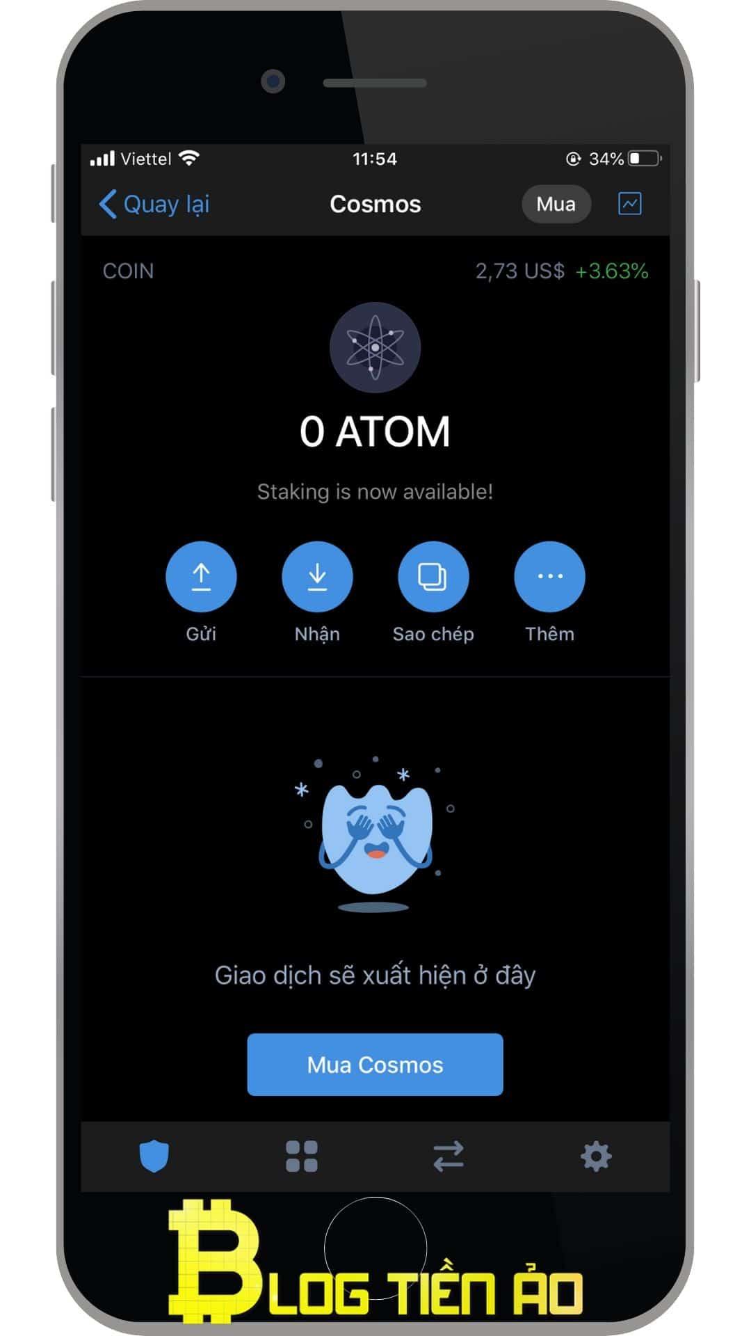 Atom auf die Trust-Brieftasche stecken