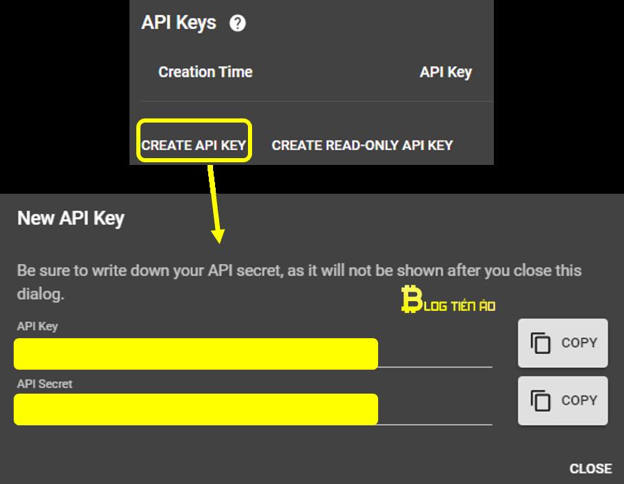 maak een api-sleutel