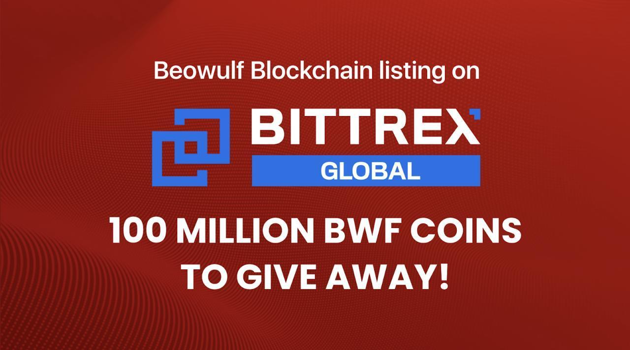 Výpis blockchainu Beowulf na bittrexu