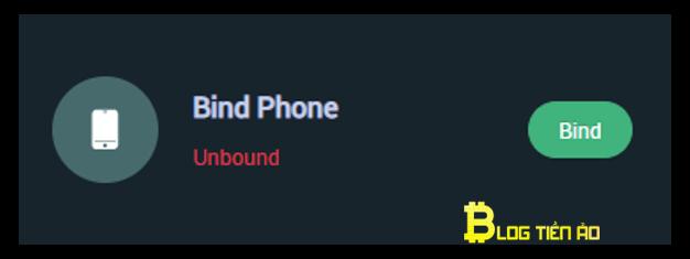 xác minh số điện thoại trên mxc
