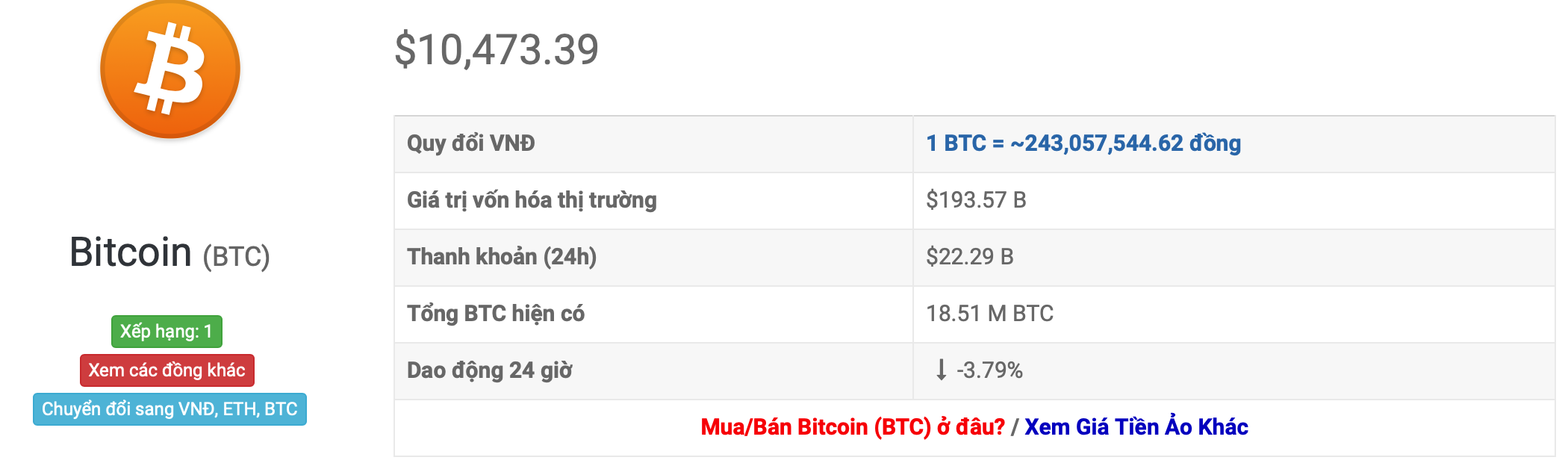 btc exchange rate
