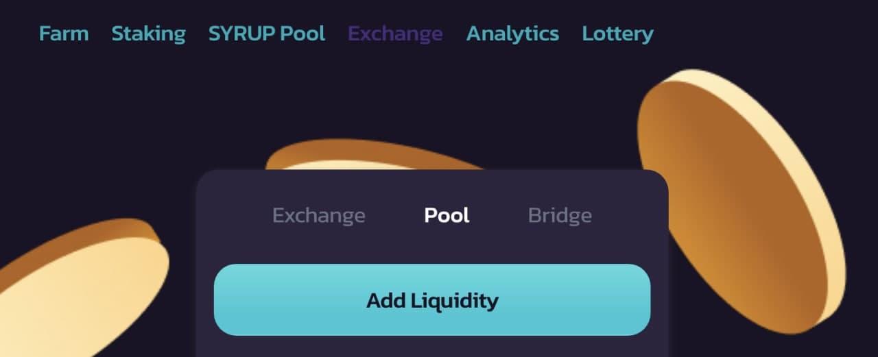 Add liquidity button