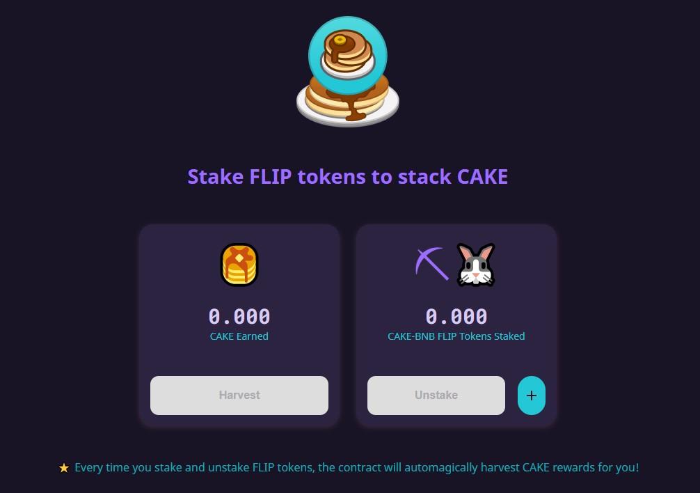 Stake flip token