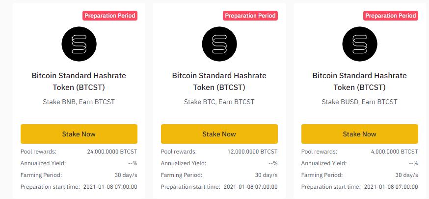 Binance-Launchpad stake earn btcst