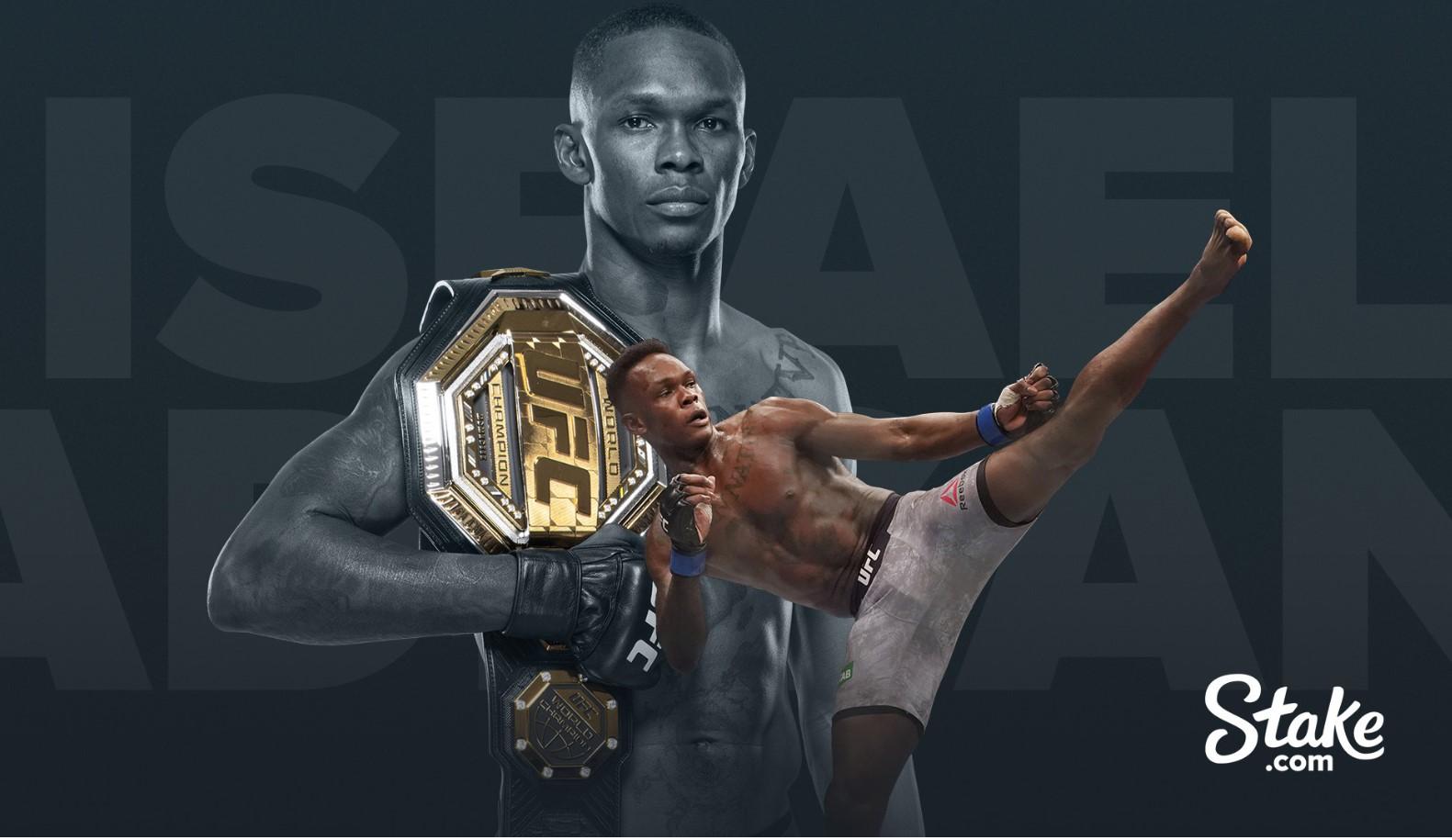 El campeón de UFC Israel Adesanya firma para convertirse en embajador de Stake.com