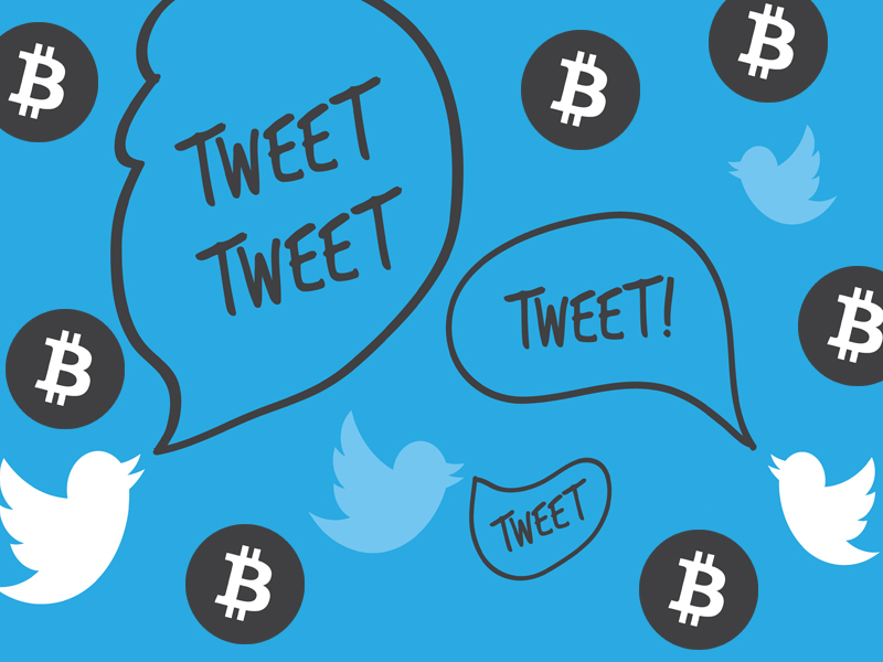 Kuongezeka kwa dhoruba kulisaidia sauti ya tweet kuhusu 'Bitcoin' hadi kilele mnamo Februari