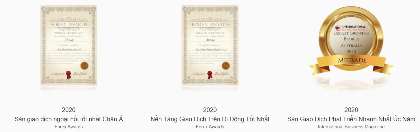 giải thưởng mitrade