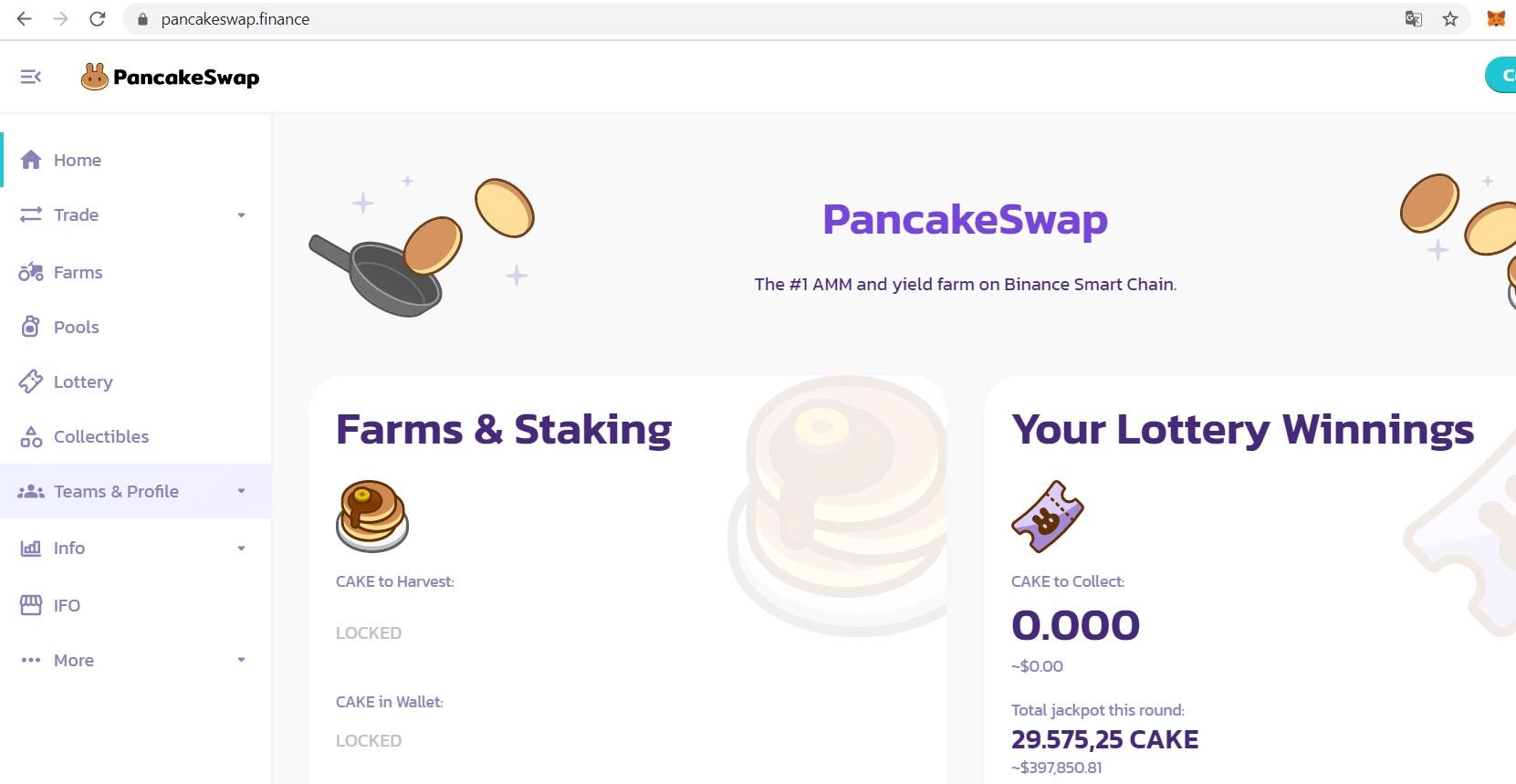 giao diện pancakeswap