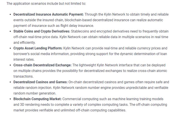 Kylin - تطبيقات