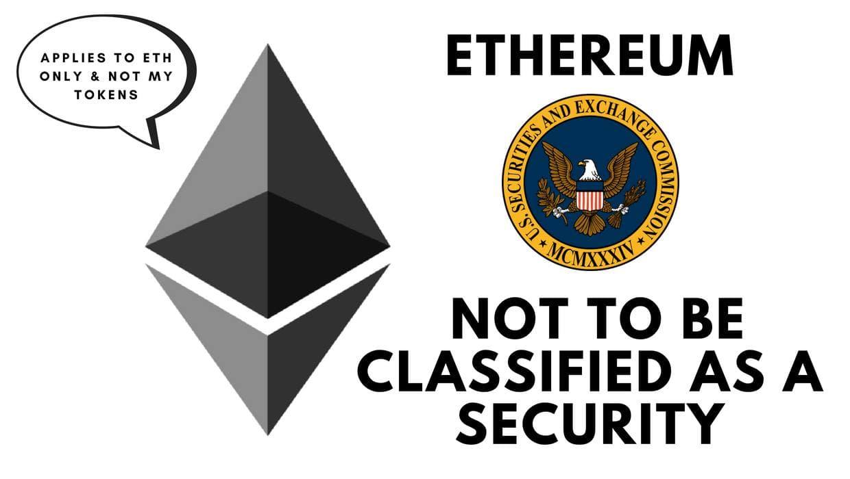 SEC: Ethereum все еще можно классифицировать как ценную бумагу