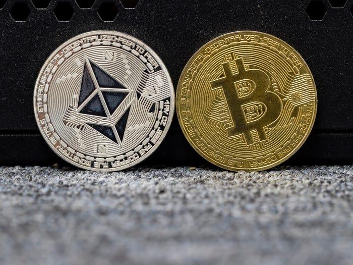 Institutionen werfen BTC ab, wenn das Ethereum-Volumen steigt