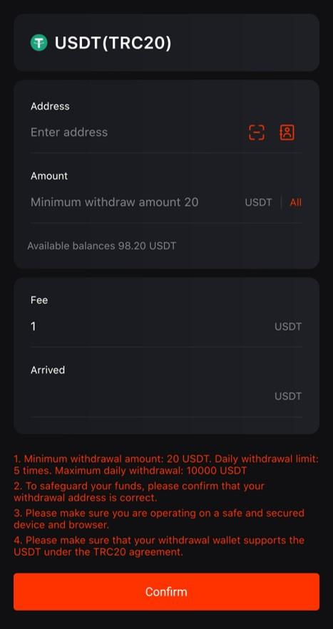 xác nhận rút tiền moonxbt