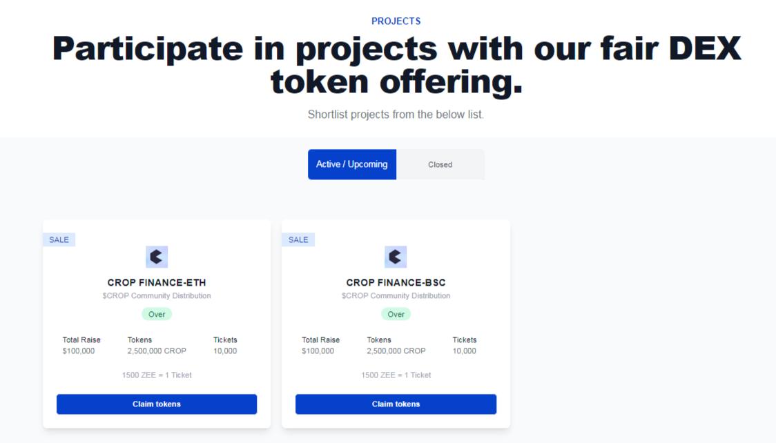 Zeroswap projects